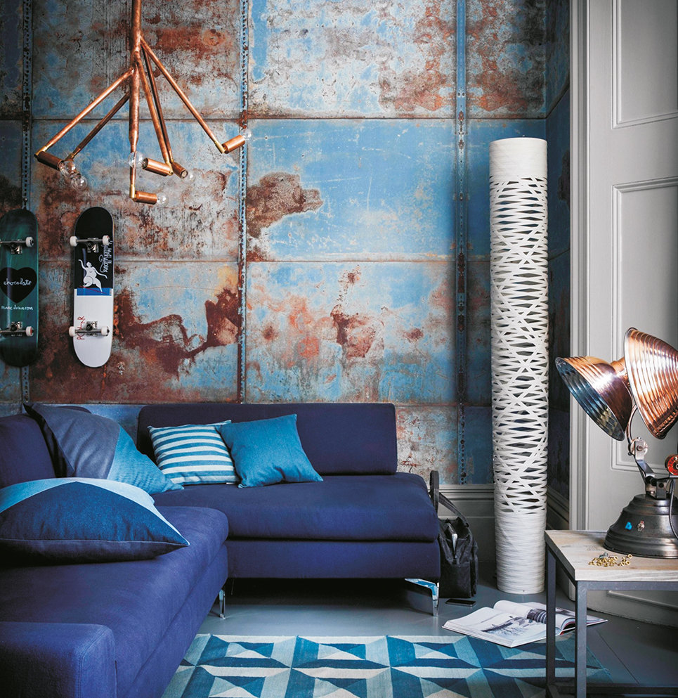 Dazzling blue is a remarkable shade which can go nicely with a splash of brass.