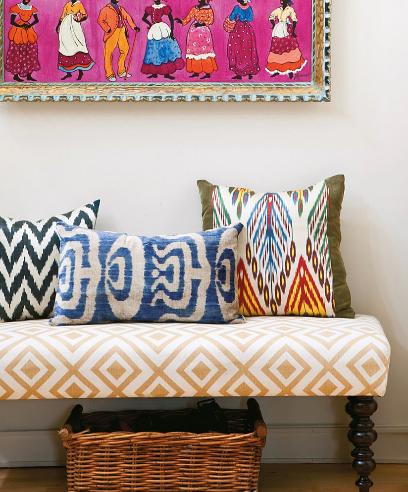 Ikat – a fiery pattern with a flash of colours that seem to blur while retaining a pattern.