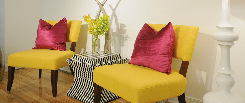 Look past sagging upholstery – fabric comes alive when used imaginatively.