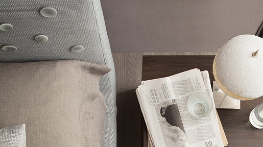 The weave of the fabric together with the skittered button effect creates delicate tactile and visual effects.