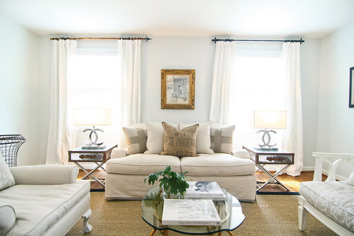 Replace your winter carpet with a lightcoloured sisial area rug to give your room a breezy effect.