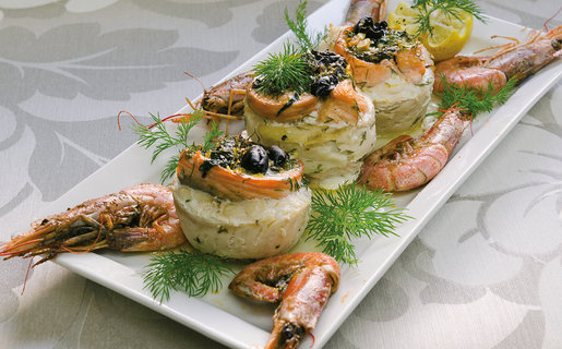 Salmon rosettes