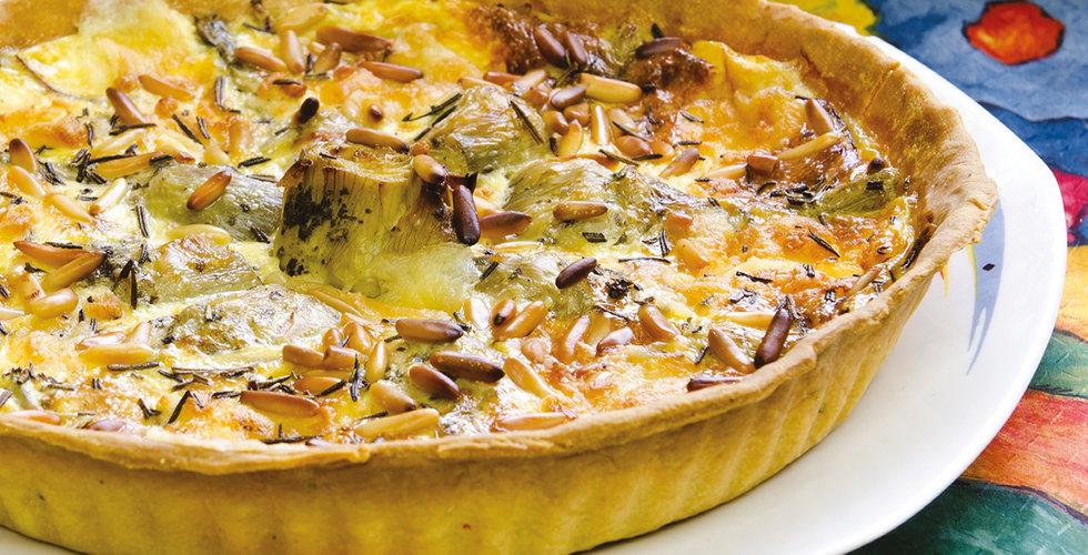 Artichoke and cheese tart