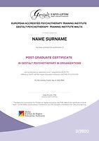 Post Graduate Diploma in Organizations Certificate