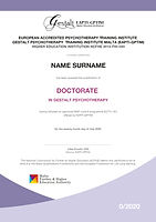 Doctorate Programme Certificate