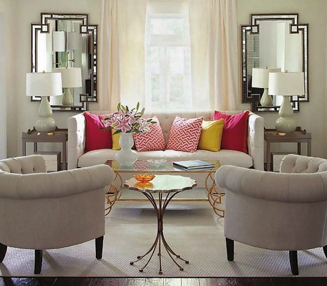 Large scaled furniture and ornaments create balance in your home.