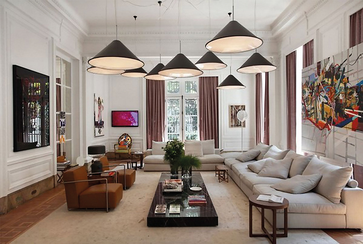 Have fun with lighting, they can become a part of the design concept in your home!