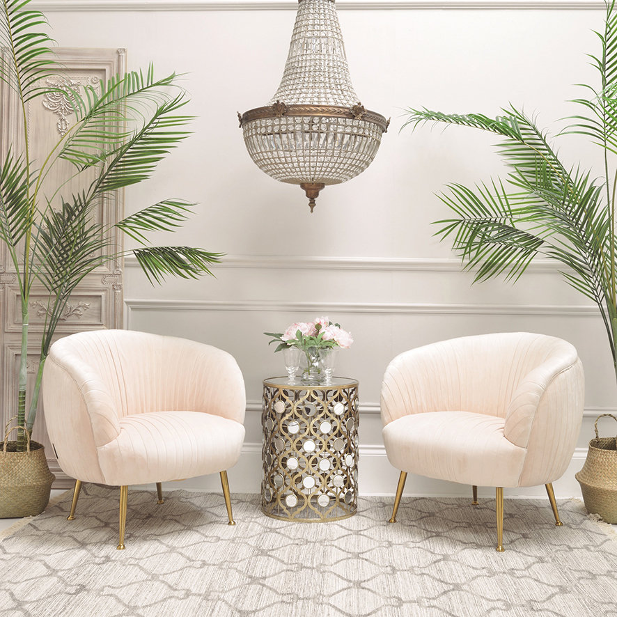Add a little sparkle in your step with a metallic rug.
