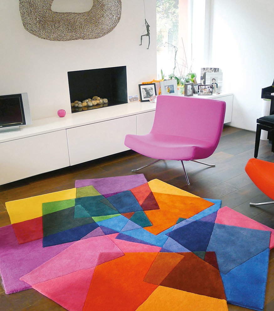 A rug has the facility to bring together pieces of furniture. The best option is to keep furniture either completely on or off your rug – depending on its size.