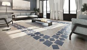 The return of the patterned floor tile