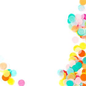 Background of colorful paper confetti, h