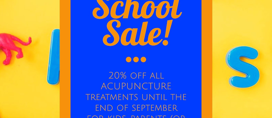 Back to School Acupuncture Sale!