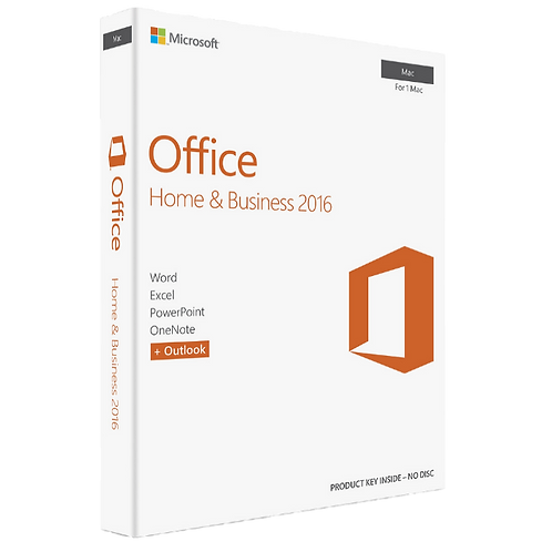 Licença Microsoft Office Home & Business 2016 Para Mac  32 / 64 Bits – ESD