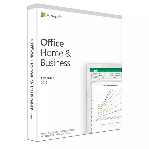Licença Microsoft Office Home Business 2019 32 / 64 Bits ESD