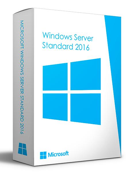 Licença Microsoft Windows Server 2016 Standard 64 BIT 16 CORE
