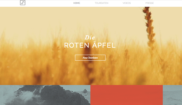 Band website templates – Indie-Folk Musiker