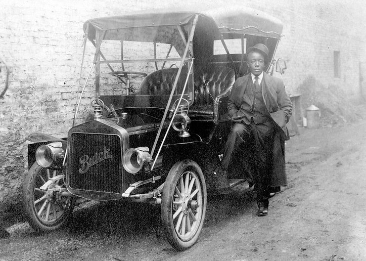 Black Wall Street Tulsa brother with car