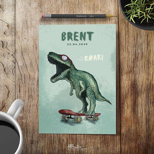 Geboortekaartje - Dino