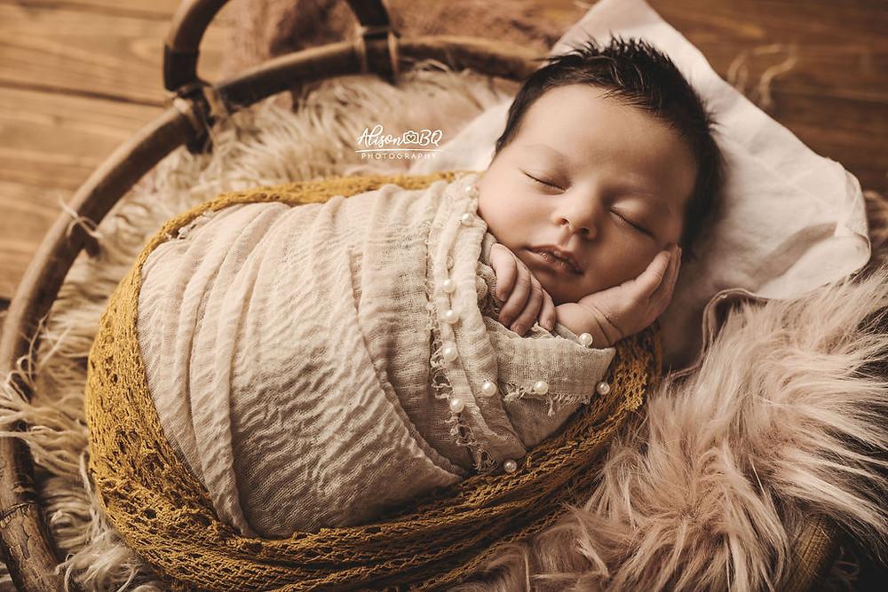 inbakeren, newborn, baby, baby fotoshoot