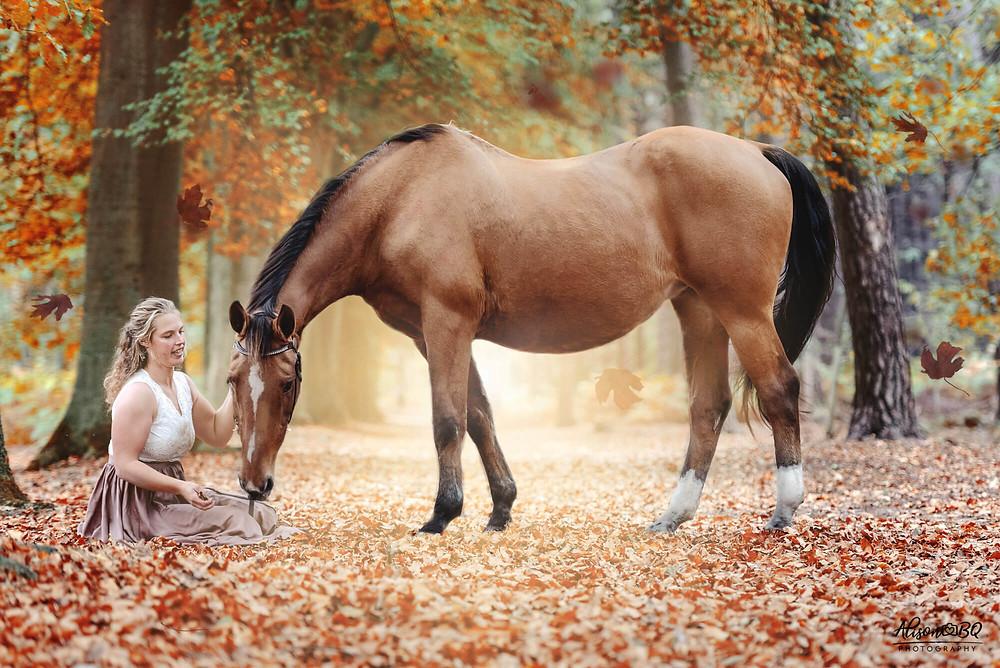Herfst, herfstfotoshoot, paardenfotoshoot