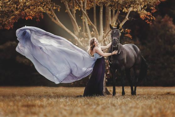 prinsessenjurk, zwart paard
