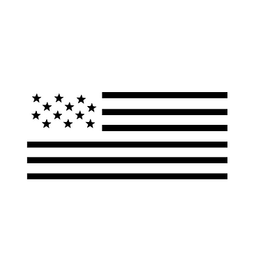 Black America Flag-new version without w