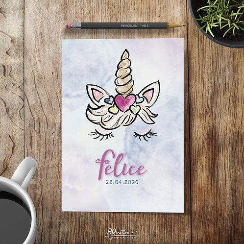 Geboortekaartje - Unicorn
