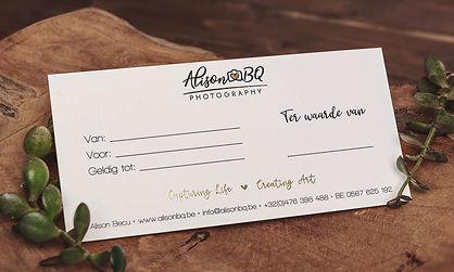 Cadeaubon, geschenk, fotoshoot, gift, alison becu, alisonbq, alisonbqphotography