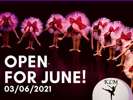 June 2021 at KLM School of Dance