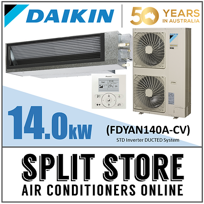 DAIKIN | Ducted 14.0kW - 10 outlets - 6 Zones (Package)