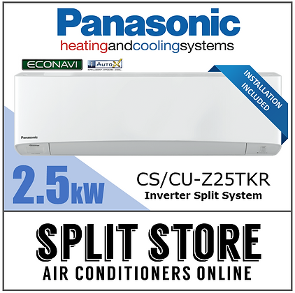 Panasonic 2.5kW Econavi Split System (INSTALLED)