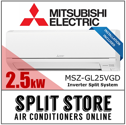 Mitsubishi Electric 2.5kW Split System (INSTALLED)