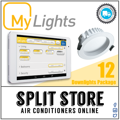 MyLights - Stand Alone LED Lighting Package - 12 x Downlights