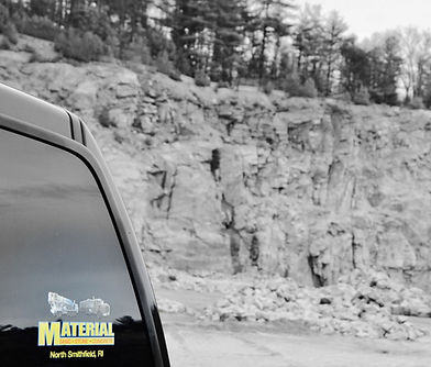 Material Corporation Vehicle in Quarry
