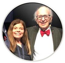 Tibisay Vera and Prof. Eric Kandel