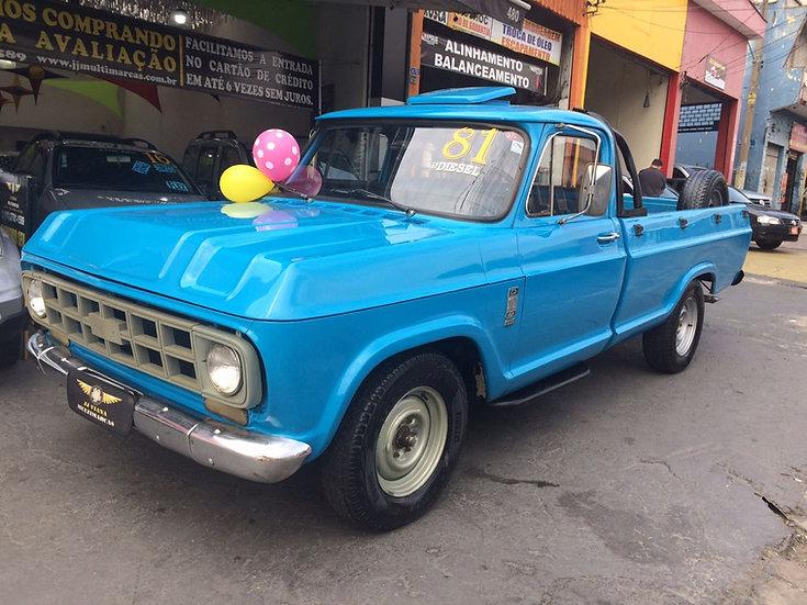 GM - Chevrolet D10 Pick-Up Diesel Carroceria Longa Original 1981
