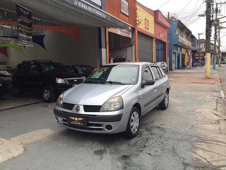 Clio Sedan Autentic 1.0 Completo Menos Ar 2005