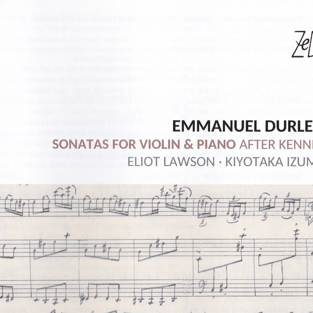 EMM. DURLET: SONATAS FOR VIOLIN & PIANO AFTER KENNIS