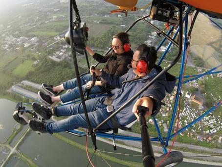 Up above Hualien in an Ultralight