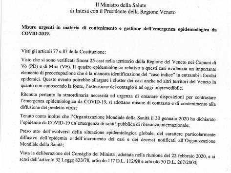 +++ EMERGENZA CORONAVIRUS: ANNULLATA L'ANTICA FIERA DI GODEGA +++
