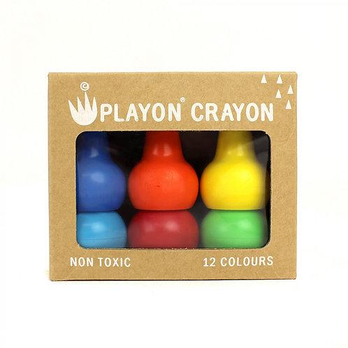 Набор восковых карандашей Playon Crayon -  Классические цвета