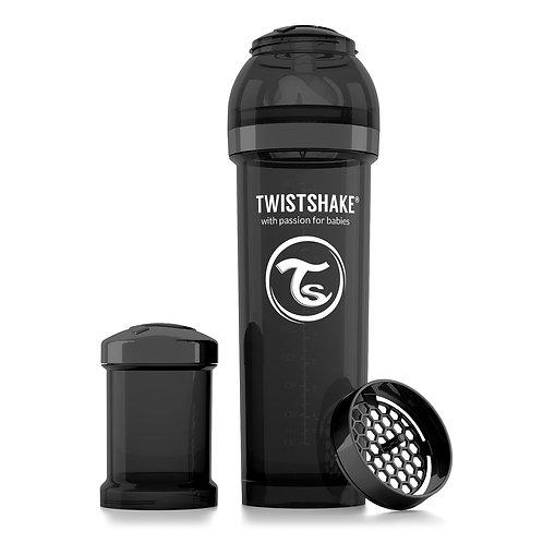 Антиколиковая бутылочка Twistshake для кормления 330 мл. Чёрная