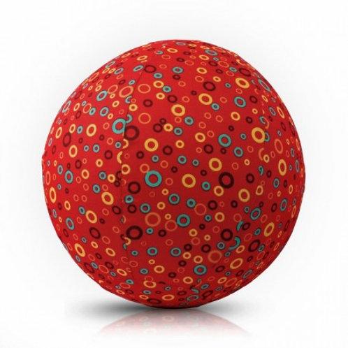 Чехол для воздушного шарика (3+) BubaBloon Кружочки (красный)