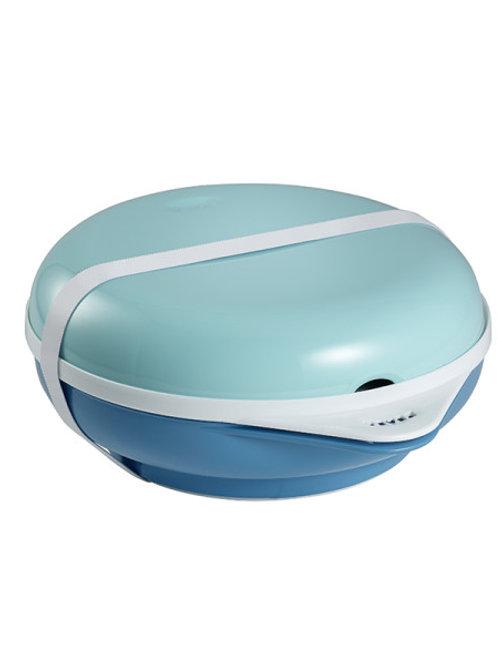 Beaba Bento Box Ellipse Термо посуда: тарелка+крышка, вилка+ложка Blue