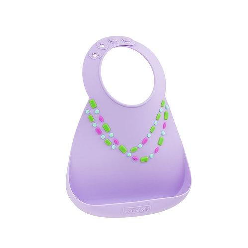 Нагрудник Baby Bib - Lilac - w/Jewels