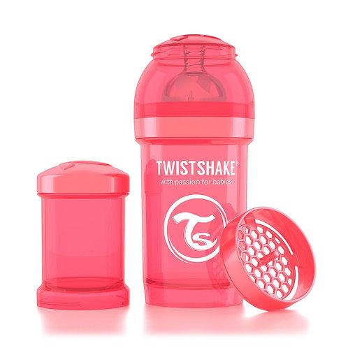 Антиколиковая бутылочка Twistshake для кормления 180 мл. Персиковая