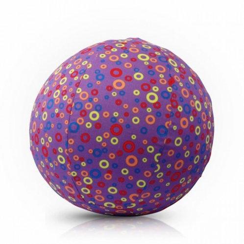 Чехол для воздушного шарика (3+) BubaBloon Кружочки (фиолетовый)