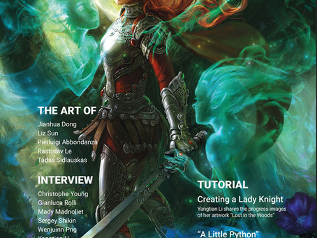 My painting appears in Fantasy Report n.3