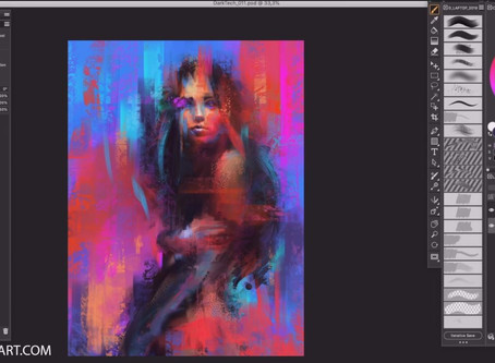 Time Lapse Video: Corel Painter - Painting using chalks and papers