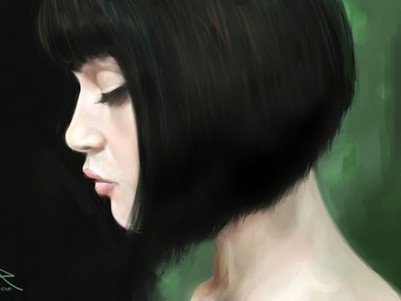 Time Lapse Painting: Gemma Arterton's Portrait
